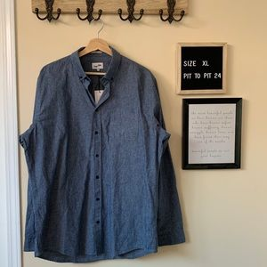 Frank and Oak Chambray Button Up